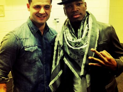 Tony stasi and NE-YO at the 02 arena concert