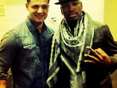 Tony stasi and NE-YO at the 02 arena concert