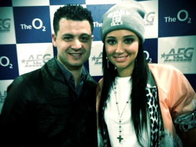 Tony stasi and Tulisa backstage at NE-YO concert